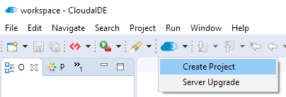 Project creation wizard - first step